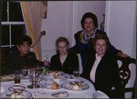 Martha Jane Starr and others, at dinner during the Women's Conference Circle, 1996