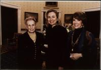 Martha Jane Starr with Hillary Clinton, at the Women's Conference Circle, 1996
