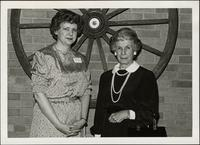 Mary Ann Black Steele, recipient of Starr award, with Martha Jane Starr