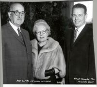 L. Perry and Harriette Cookingham with unidentified P to P Chapter President
