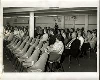 Group of attendees seated at the KC Mace Conference, 1967