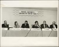 "Seated panel forum on ""Sexual maturity - How does the teen get there?"" at the KC Mace Conference, 1967"