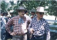 L. Perry Cookingham and unidentified man in Western wear