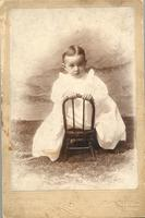 L. Perry Cookingham in christening gown
