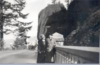 Ella Cookingham and Mame Gordinier at Shepperds Dell Bridge