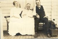 Joseph Cookingham poses with his mother Martha and unidentified woman