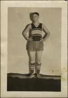 John W. Starr in his basketball uniform