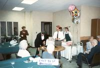Magician preforming at Cookingham's 92nd birthday party