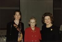 Alie Starr, Martha Jane Starr, and Martha Hood Talbot at banquet event