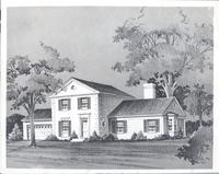 Charcoal drawing of house at 809 W. 69th St.