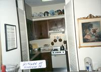 Interior shot of kitchen in apartment at Kingswood Manor