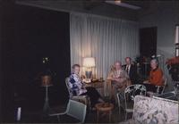 Martha Jane Starr, John W. Starr, John Philip Starr, and Barry Starr sitting in sunroom at Starr Residence