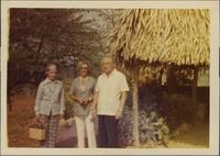 Martha Jane Starr, unknown woman, and John W. Starr standing in Costa Rica