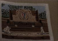 Needlepoint of Eagle Scout Memorial Fountain