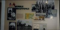 """Humble Beginnings"" photo display at Woolaroc"