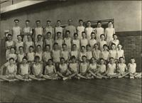 Boys' gym class photo with L.E. Phillips Jr. and Phil Phillips