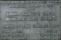 Dedication plaque at Loose Park Rose Garden
