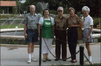 John Philip Starr, unidentified woman, James Starr, Ellen Starr, Barry Starr at Loose Park Rose Garden