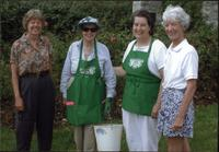 Barry Starr, Sarajane Aber, an unidentified woman, and Ellen Starr at Loose Park Rose Garden