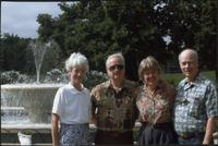 Barry Starr, James Starr, Ellen Starr, and Phillip Starr at Loose Park Rose Garden