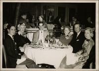 James Starr, Miss Nodie Starr, John Philip Starr, Aunt Cora, John W. Starr, and Martha Jane Starr at San Francisco restaurant