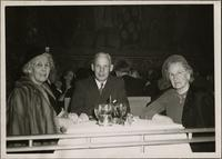 Miss Nodie Phillips, Philip R. Phillips, and Cora Phillips at San Francisco restaurant