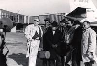 Buck Clayton and others outside their plane