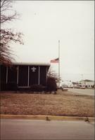 Half-mast flag at Boy Scout Headquarters