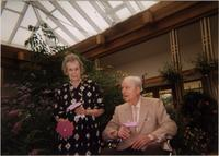 Martha Jane Starr, standing, and John W. Starr at the Powell Gardens Butterfly Festival