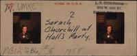 Sarah Churchill at Hall's party