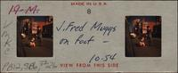 J. Fred Muggs on foot