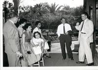 Richard Bolling with Charles Hallock and unidentified people in Egypt