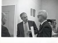Richard Bolling speaking with Murray C. Boogher