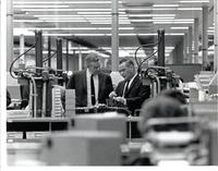 Richard Bolling touring the Western Electric building