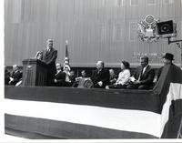 unidentified man speaking at the Federal Information Center