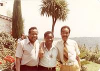 "Eddie ""Lockjaw"" Davis, Panama Francis, and Buck Clayton in a tropical environment"