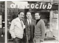 Buck Clayton, Raymond Ré, and Sir Charles Thompson on the streets in Geneva, Switzerland