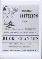 Humphrey Lyttelton Club presents from America the fabulous trumpet of Buck Clayton