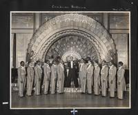 Buck Clayton and his Harlem Gentlemen on the Canidrome Ballroom Stage, November 6th, No date; likely 1934