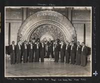 Buck Clayton and his Harlem Gentlemen on the Canidrome Ballroom Stage