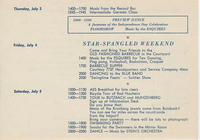 Continued description of activities taking place at Bad Nauheim during the ARC (American Red Cross) Continental Club program, covering July 3 to July 5, 1947, including German language classes, a floorshow by the Esquires and dance music by Stein's Orches