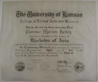 Bachelor of Arts, University of Kansas