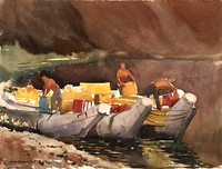 Loading Raft, Colorado River Grand Canyon