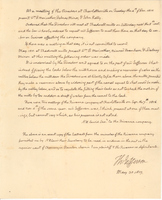 Thomas Jefferson Handwritten Document