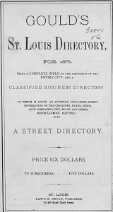 Gould's St. Louis Directory, for 1875