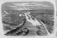 Foote's Gun-Boats Ascending To Attack Fort Henry