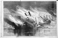 Burning of steamers on the Ohio River at Cincinnati, May 12, 1869.