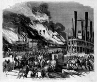 Terrific Fire Among the Steamers In the Harbor of St. Louis, Mo.