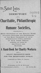 St. Louis Directory of Charitable, Philanthropic, and Humane Societies, 1902