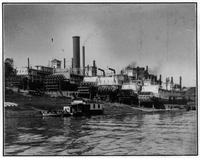 Steamboats on Marine Ways, Paducah, Kentucky